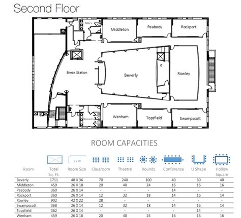 event center floor plans boston oceanfront meetings events wylie inn and