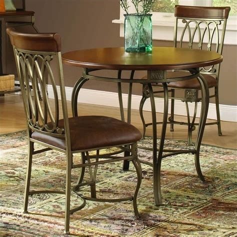 3pc dining table set hillsdale montello 3 pc 36 quot dining table set 41541dtb36c3