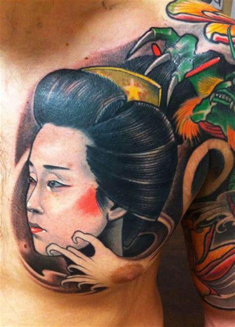 geisha tattoo on chest awesome geisha images part 2 tattooimages biz