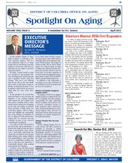 Office On Aging by D C Office On Aging E News