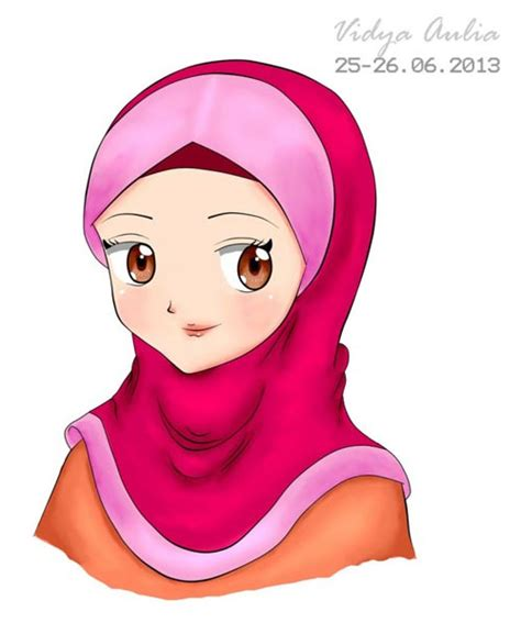 foto imut anime paling beruntung gambar kartun wanita berhijab paling imut dan lucu