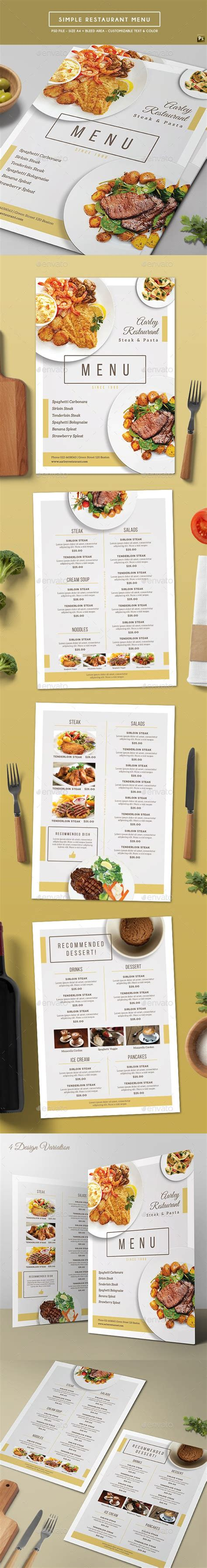 simple restaurant menu restaurant menu template and