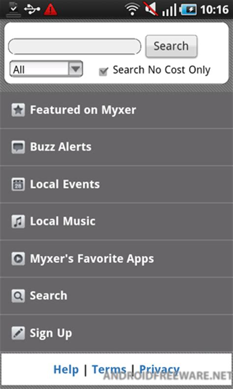 myxer ringtones for android myxer free app android freeware