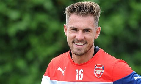 aron ramsey haircut aaron ramsey doing his best beckham impression in pre