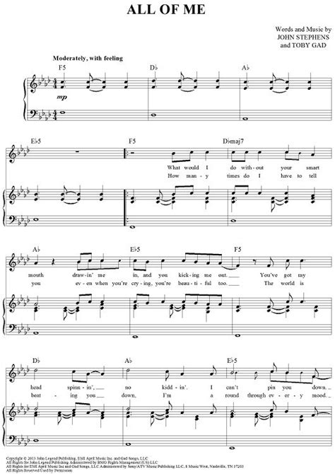 tutorial kunci guitar all of me 17 best images about sheet music on pinterest piano