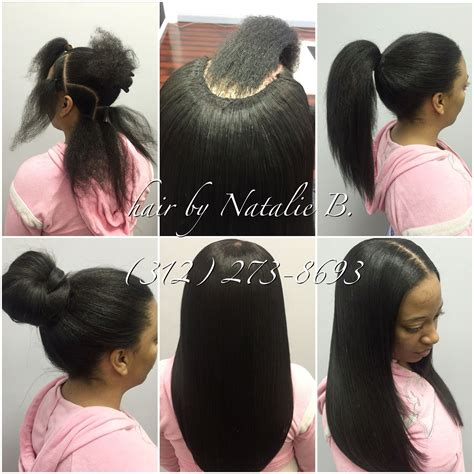 picture of hair sew ins neatest sew in installs ever call or text me today to