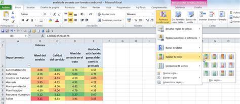 tutorial excel condicional si an 225 lisis de encuestas con formato condicional jld excel
