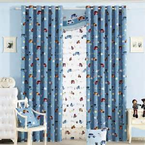 custom blue cartoon car boys room nursery curtains