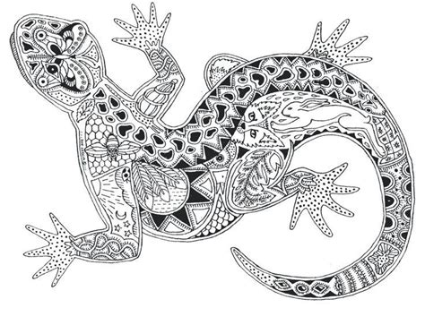 animal zendoodle coloring pages zentangle animals gecko zentangle animals kid s art