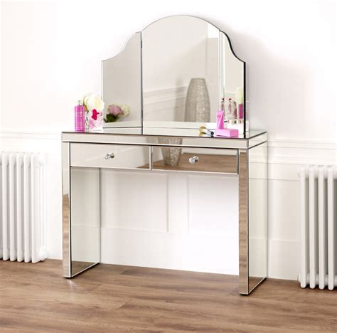 3 sided mirror dressing table venetian mirrored dressing table with curved tri sided