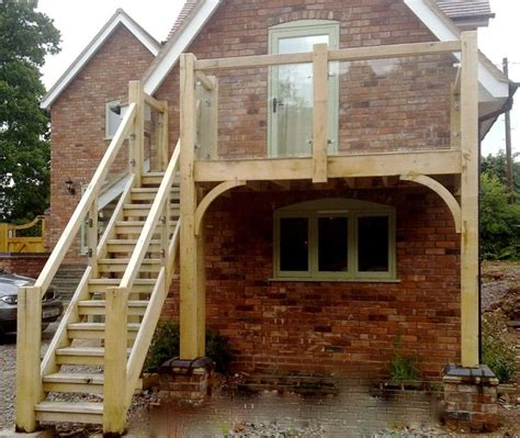 Gambrel Barn Homes exterior timber stairs traditional conservatories ltd