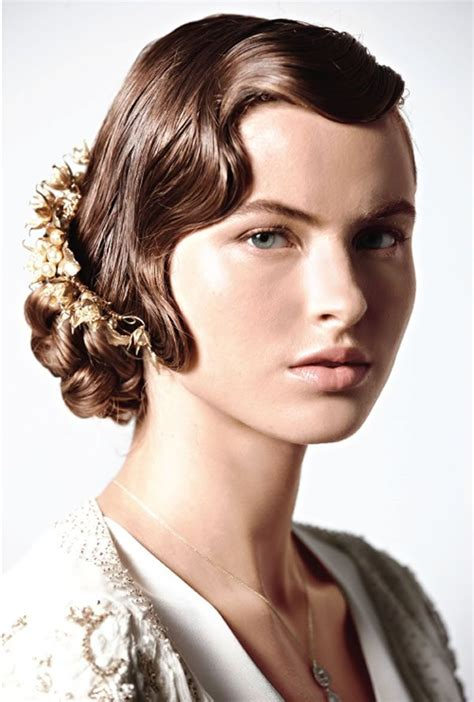 hairstyles 1920 s era mid length jazz age inspired cocktail party hairstyle for mid length