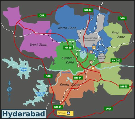 file hyderabad zones png wikimedia commons