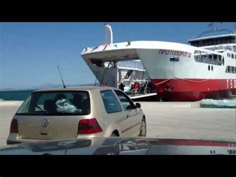 ferry boat eretria oropos time lapse at protoporos ferry boat oropos eretria