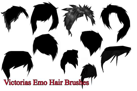 Hairstyle Photoshop Brushes by Victorias Hair Brushes By Vicsvlogcandy On Deviantart