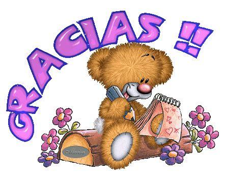 imagenes tiernas gracias oso escribiendo te da las gracias imagenes y carteles