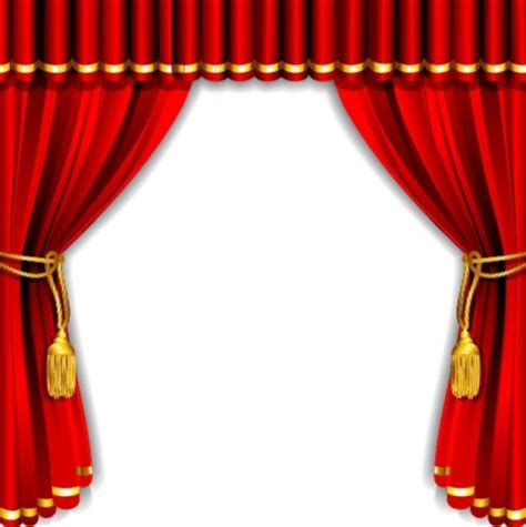 gorgeous curtain of red vector vector misc free vector