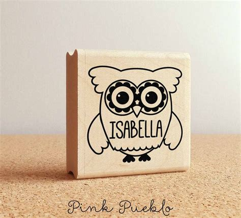 personalized rubber sts for card personalized custom rubber st custom st with owl