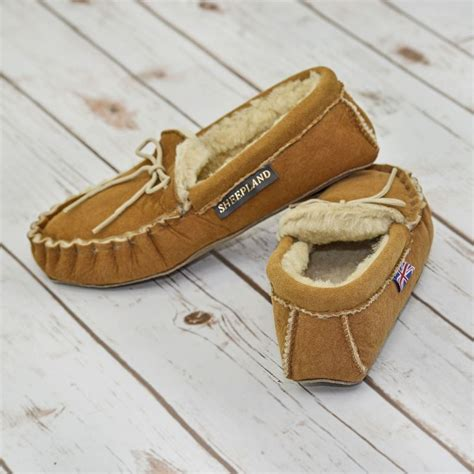 Handmade Sheepskin Slippers - sheepskin moccasin slippers