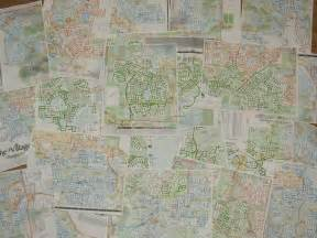 detailed map of the villages florida rides their bicycle up and every single