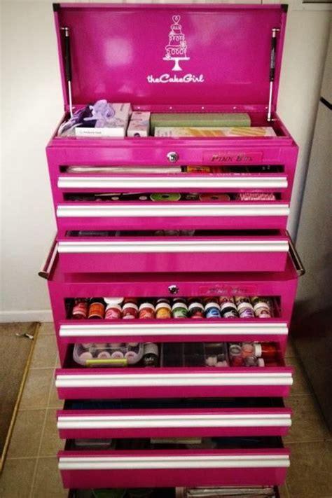 baking supply storage craftsman pink tool box divine make up by motives