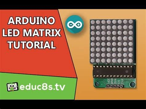 arduino tutorial on youtube arduino tutorial led matrix red 8x8 64 led driven by
