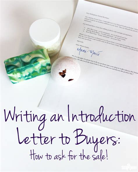Retail Company Introduction Letter Writing An Introduction Letter To Buyers Ask For The Sale Soap