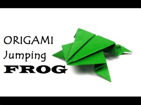 How To Make A Jumping Frog From Paper - paper jumping frog diy paper crafts
