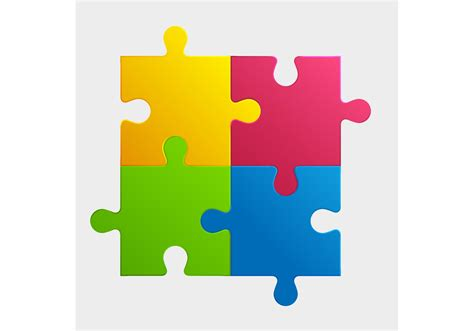 colorful puzzle pieces free vector stock