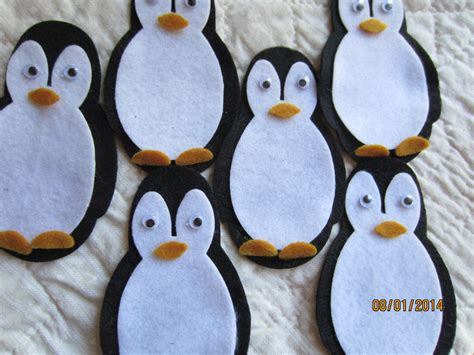 felt penguin kit diy christmas crafts party decorations