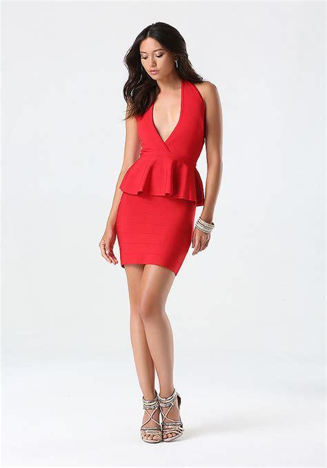 Sale Dress Bebe Halter 1 peplum halter dress cocktail evening bebe