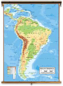 and south america physical map physical map of south america