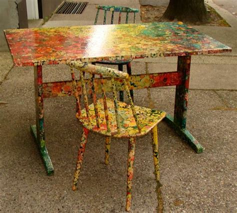 decoupage dining room table small dining table decoupage decoration at 1stdibs
