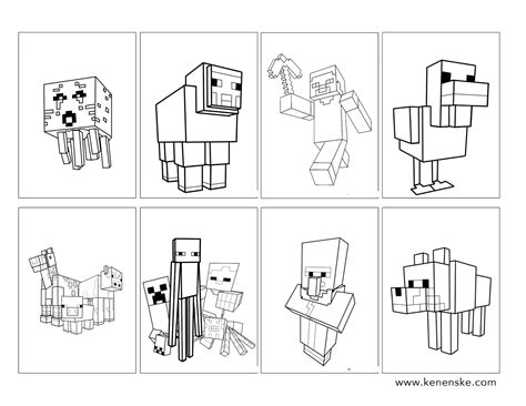 minecraft food coloring pages minecraft coloring book dustins 10 birthday pinterest