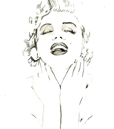 marilyn monroe zeichnung m is for marilyn monroe not for sale lauren randalls art