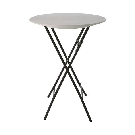 Folding Bistro Table Lifetime Almond Bistro Folding Table 80362 The Home Depot