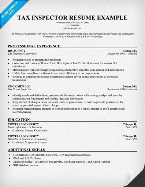 tax attorney resume sle
