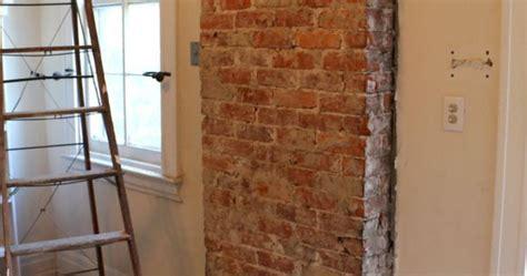 remove plaster   brick chimney exposed brick plaster walls  bricks