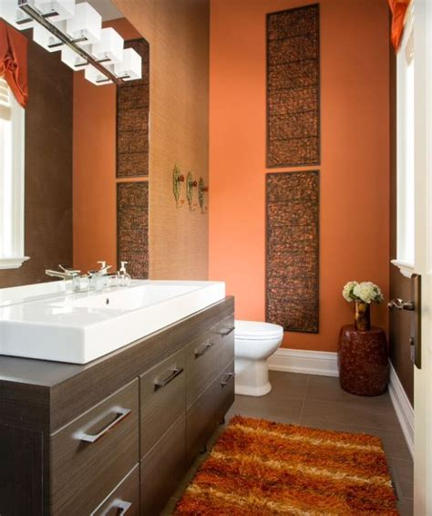 orange bathrooms best 25 orange bathroom paint ideas on pinterest diy orange bathrooms orange