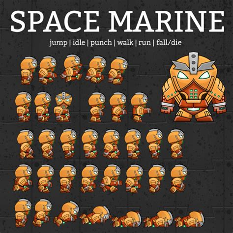 Punch Home Design Essentials space marine game art character sprites