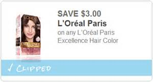 new 3 1 l oreal excellence hair color printable coupon