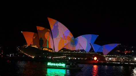 tourism in sydney and nsw australia vivid light laser