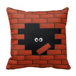 brick wall pillow zazzle