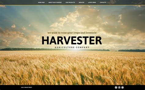 large picture agriculture joomla template 45560
