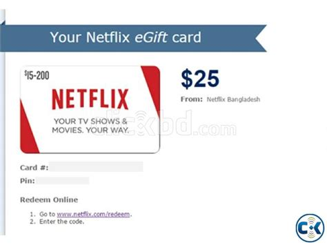 Buy Netflix Gift Card With Paypal - netflix gift card clickbd