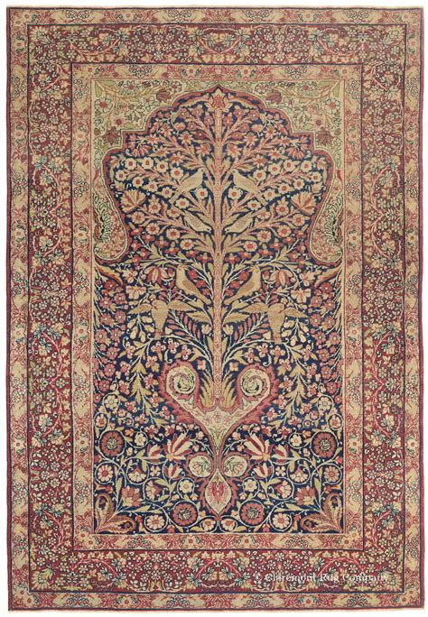 kirman rugs carpet tree of and on