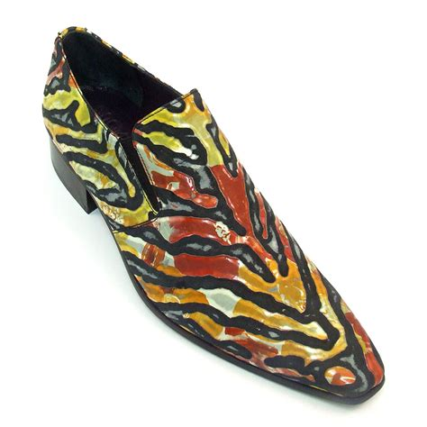 buy fiery tiger slip on funky mens shoes gucinari