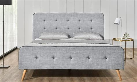 Bed Frame And Mattress Deals Uk Winchester Grey Fabric Bed Frame Groupon Goods