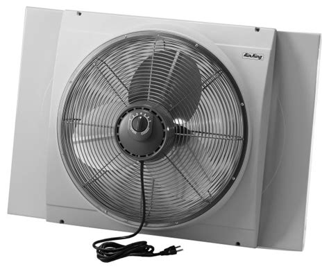 20 inch window fan air king 9166 20 inch 3560 cfm whole house window fan with