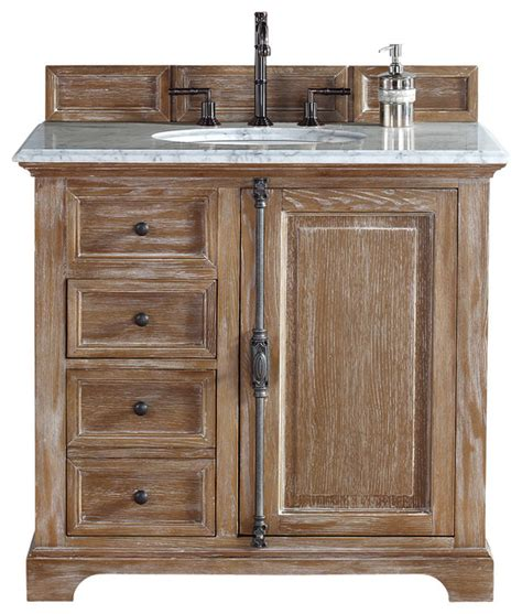 providence driftwood single vanity white